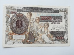 JUGOSLAVIA 1000 DINARI 1941 - Yugoslavia