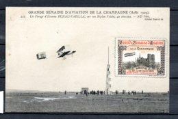Grande Semaine D'aviation De La Champagne - Aout 1909 - Etienne Bunau - Varilla - + Vignette - Fliegertreffen