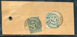 FRANCE - N° 111 + 130 / ETIQUETTE DE COLIS DU MANS LE 2/5/1905 POUR PARIS - TB - 1900-29 Blanc