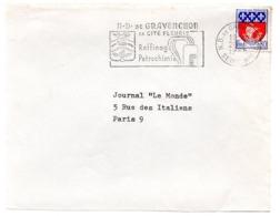 HERALDIQUE = 76 ND De GRAVENCHON 1965 = FLAMME SECAP  Illustrée D' ARMOIRIES ' RAFFINAGE PETROCHIMIE ' - Oblitérations Mécaniques (flammes)
