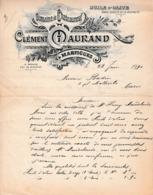 1990 - MARTIGUES - Domaine De CHÂTEAUNEUF - Clément MAURAND - Huile D'olive Vente Directe - Historical Documents