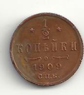 1/2 Kopeke 1909 Russland. - Russia