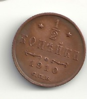 1/2 Kopeke 1910 Russland. - Russia