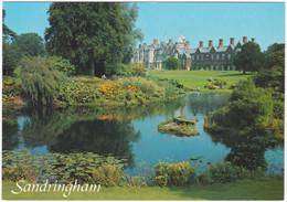 SANDRINGHAM HOUSE, NORFOLK, FROM THE LAKE. UNPOSTED - Angleterre