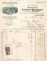 9092  -2019   FACTURE DISTILLERIE LUCIEN BEGOUIN A ANGOULEME - France