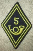 Losange De Bras 5° Bataillon De Chasseurs - Ecussons Tissu