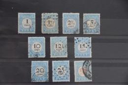 B 444 ++ 1881 NEDERLAND NETHERLANDS PORT 3-12 CANCELLED GESTEMPELD - Impuestos