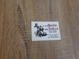 Carte De Visite De Bistrot A Vins   A La Cloche Des Halles   Paris - Cartoncini Da Visita