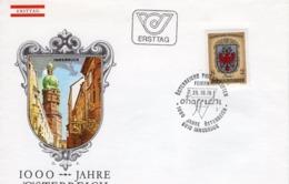 FDC - 1000 Jahre Österreich Tirol 25.10.1976 Ersttag - FDC