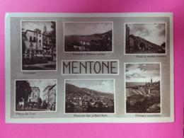 MENTONE- Multivues En Italien, CP Glacée - Menton