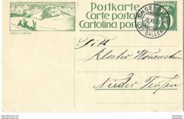 "11 - 92 - Entier Postal Avec Illustration ""Davos Im Winter"" Superbe Cachet à Date Engelburg 1925 - Interi Postali"