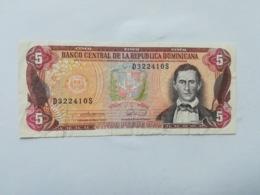 REPUBBLICA DOMINICANA 5 PESOS ORO 1990 - Dominicaine