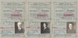 CARTE D'IDENTITE REDUCTION  SNCF 1939 FAMILLE BALMASSIERE MONTAREN 30 - Otros