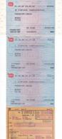Germany, 1980's, Lot Of 4 Train Tickets - Deutsche Bundesbahn - Otros