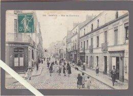 """Nantes / La Rue De Coulmiers, Café """"Au Vin Des Coteaux De La Sevre""""  ( Rare, Voir état) - Nantes"""