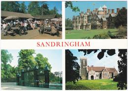 SANDRINGHAM, NORFOLK MULTIVIEW. VISITOR CENTRE, NORWICH GATES, CHURCH - Angleterre