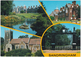 SANDRINGHAM MULTIVIEW. ST. MARY MAGDALENE CHURCH, NORWICH GATES - Angleterre