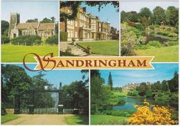SANDRINGHAM HOUSE, NORFOLK MULTIVIEW. GARDENS, GATES, LAKE. UNPOSTED - Angleterre