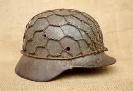 Net Steel Helmet - Netz Stahlhelm M35/40/42 - Replica COPY WWII WK2 - Helm Casque D'acier - Net Pour De Camouflage - Uniforms