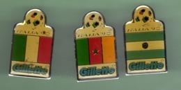 FOOT *** COUPE DU MONDE 90 ITALIE *** Lot De 3 Pin's Differents *** 1057 - Football