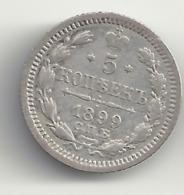 5 Kopeken 1899 Russland.Silber. - Russia