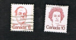 CANADA - SG 694.701  - 1973.1976 CURRENT SERIE: PRIME MINISTERS & QUEEN ELIZABETH II         -  USED - Usati