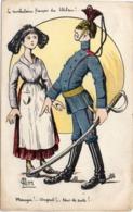 P. GEITE - Alsacienne Et Soldat Allemand - Le Vocabulaire Français Du Uhlan   (117125) - Andere Illustrators