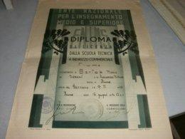 DIPLOMA ANNO SCOLASTICO 1941-42 CITTA' DI FIUME - Diplomi E Pagelle