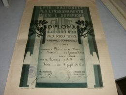 DIPLOMA ANNO SCOLASTICO 1941-42 CITTA' DI FIUME - Diplômes & Bulletins Scolaires