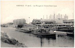 62 HARNES - Le Rivage Et L'usine électrique - Harnes
