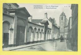 * Kortrijk - Courtrai (West Vlaanderen) * (LL - B, Nr 3) Rue Du Béguinage, Begijnhof Straat, Animée, église, Kerk, TOP - Kortrijk
