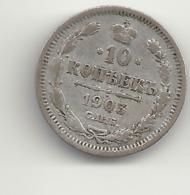 10 Kopeken 1903 Russland.Silber. - Russia