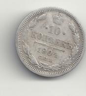 10 Kopeken 1904 Russland.Silber. - Russia