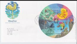 Great Brtain FDC 2001 Weather Souvenir Sheet (NB**L75-6B) - Protezione Dell'Ambiente & Clima