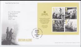 Great Brtain FDC 2010 Dunkirk Souvenir Sheet (NB**L75-6B) - Militaria