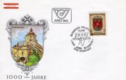 FDC - 1000 Jahre Österreich Burgenland  25.10.1976 Ersttag - FDC