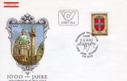 FDC - 1000 Jahre Österreich Wien  25.10.1976 Ersttag - FDC