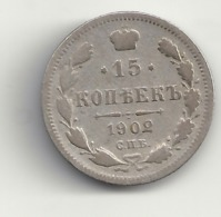 15 Kopeken 1902 Russland.Silber. - Russia