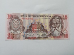 HONDURAS 10 LEMPIRAS 1989 - Honduras