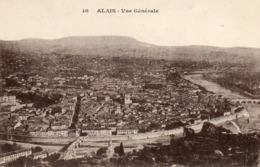 Ales   Vue Generale  No 10  Avec Faute D Orthographe   Alais - Francia