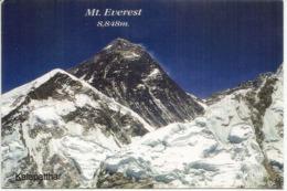 Mt Everest , Depuis Kalapatthar, 8848 M. , Postcard Sent To Andorra, With Arrival Postmark - Alpinisme