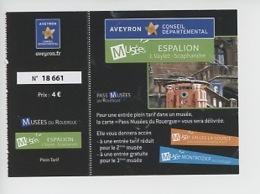 Ticket : Scaphandre - J. Vaylet - Musée Espalion (14X10) - Toegangskaarten