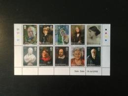 GB 2006 National Portrait Gallery Set MUH  Sg 2640-49 - 1952-.... (Elizabeth II)