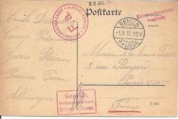 CP Prisonnier De Guerre REISEN Camp Officiers - Storia Postale