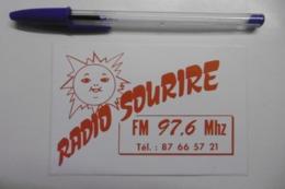 Autocollant Stickers Médias RADIO SOURIRE FM 97.6 MHZ - Pegatinas