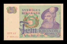 Suecia Sweden 5 Kronor 1978 Pick 51d SC UNC - Schweden