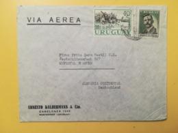 1959 BUSTA INTESTATA URUGUAY STORIA POSTALE BOLLO CARLOS VAZ FERREIRA REVOLUTION VIA AEREA ANNULLO - Uruguay