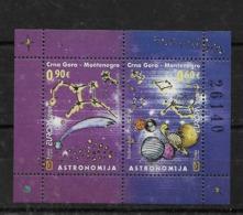Hoja Bloque De Montenegro Nº Yvert HB-8 ** ASTRONOMIA (ASTRONOMY) - Montenegro