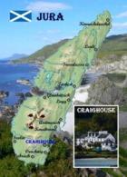 Scotland Jura Island Map New Postcard Schottland Landkarte AK - Autres