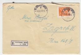 Yugoslavia Letter Cover Travelled Registered 1948 Slavonski Brod To Zagreb  B190922 - 1945-1992 Socialist Federal Republic Of Yugoslavia